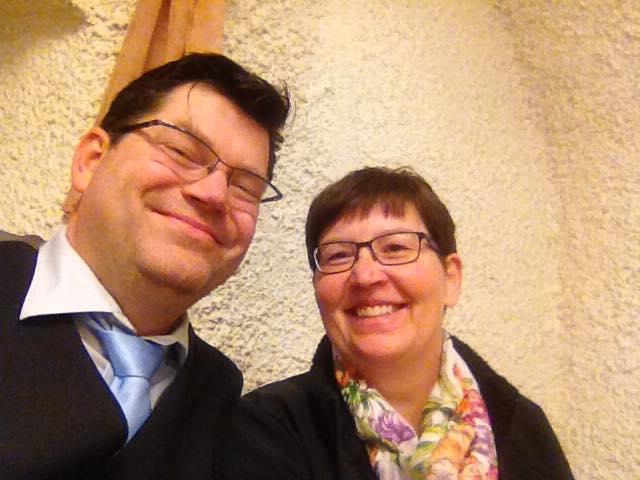Mit bei der Kreisversammlung: Kreisrat Matthias Henneberger und Petra Holl aus Randersacker