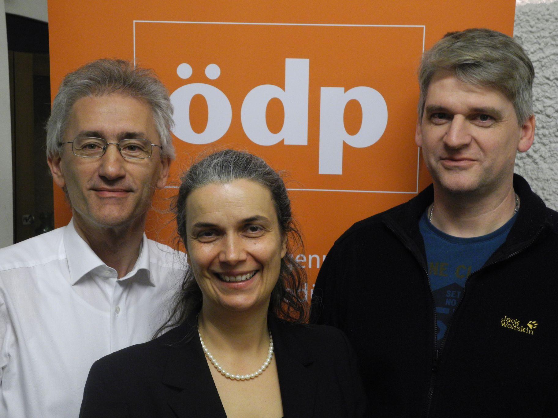 Kreisvorstand Raimund Binder, Dagmar Dewald und Georg Grund