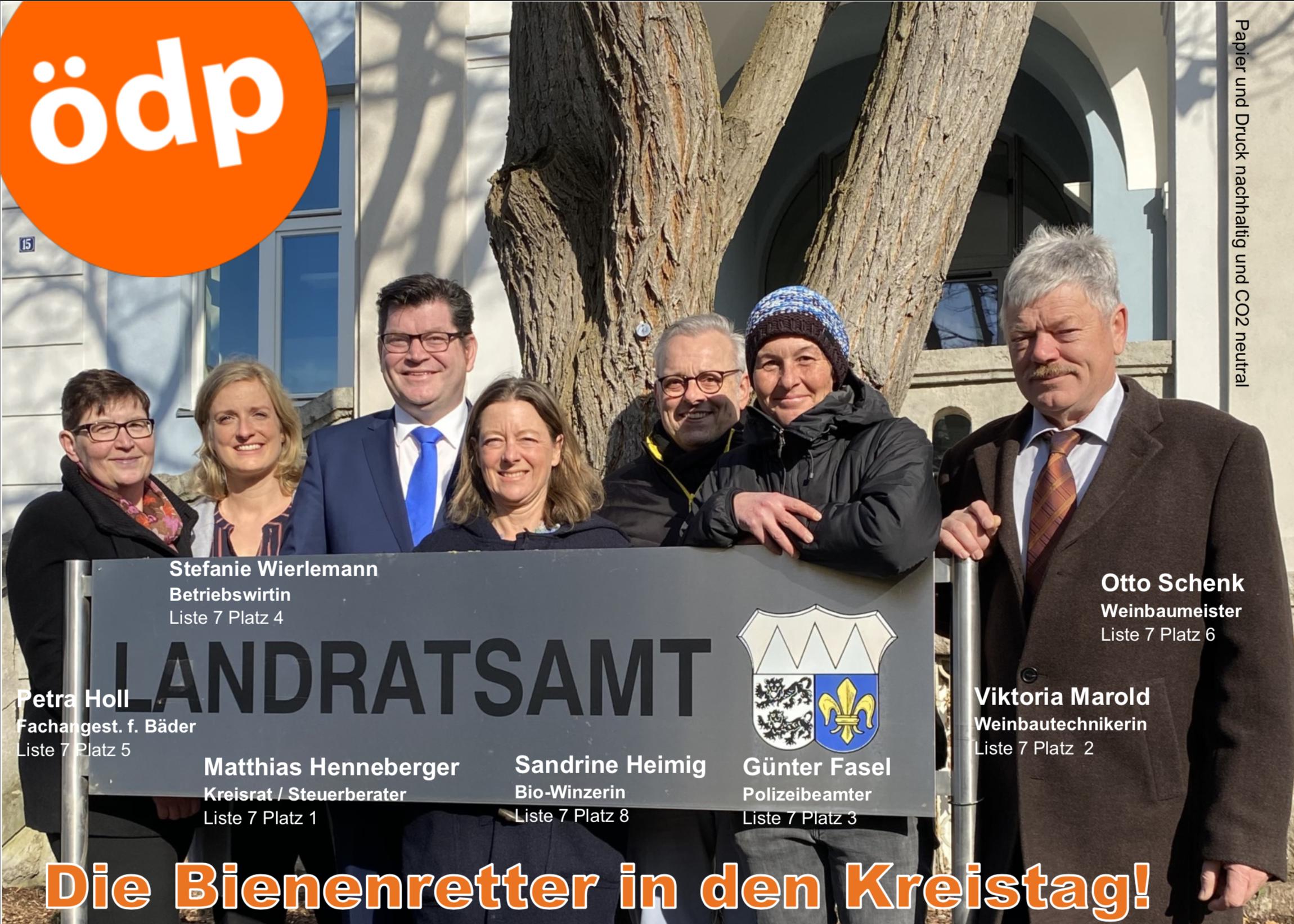 15. März 2020 - Alle Stimmen für die Ökologisch-Demokratische Partei (ödp)