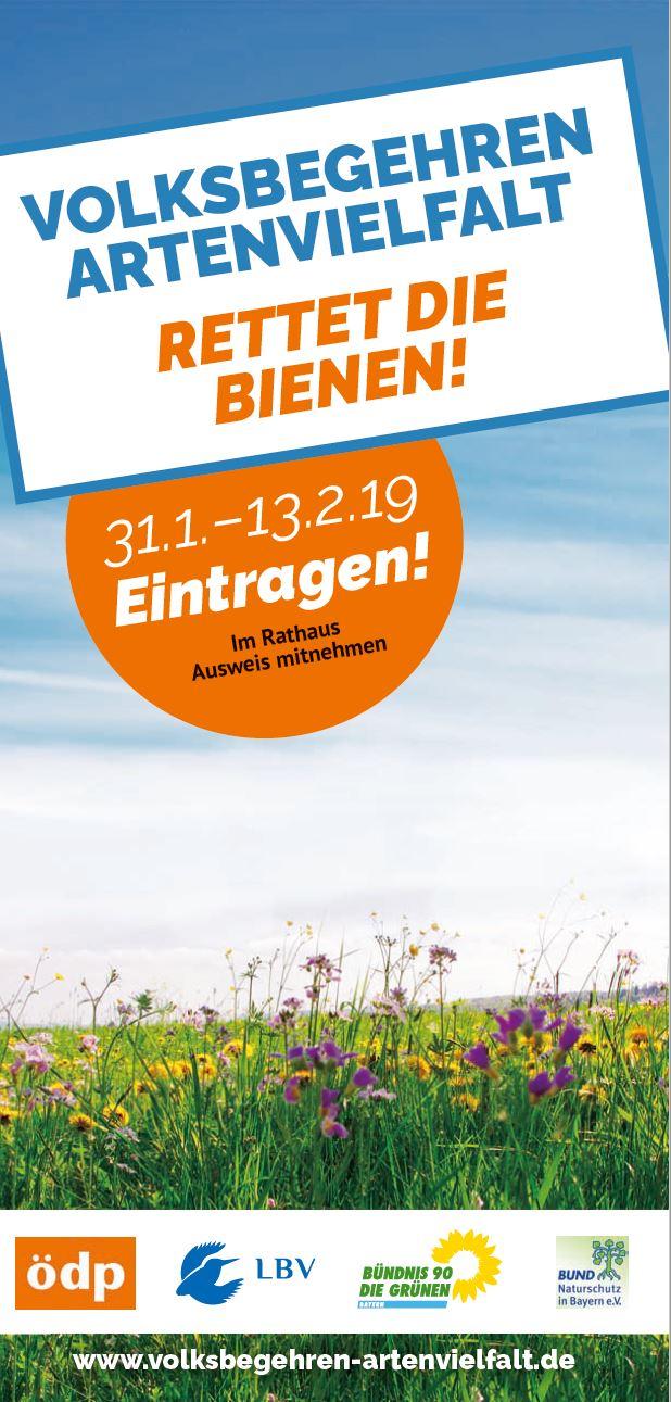 Download von druckfähigen Vorlagen auf der Homepage des Volksbegehrens volksbegehren-artenvielfalt.de
