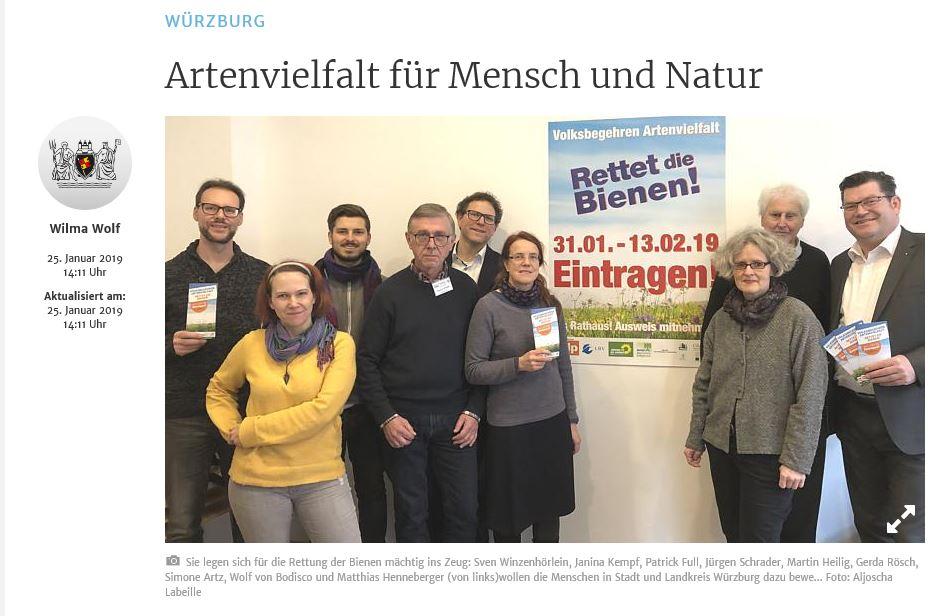 MainPost berichtet über Gemeinsame Pressekonferenz der Aktionskreise Stadt und Land